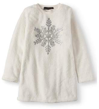 Derek Heart Holiday Sequin Plush Tunic Top (Big Girls)
