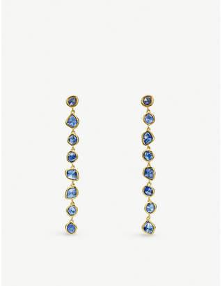 Monica Vinader Mini Nugget Cocktail 18ct gold-vermeil earrings