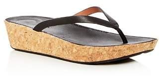 FitFlop Women's Linny Leather Wedge Flip-Flops
