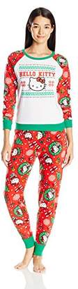 Hello Kitty Women's Ugly Holiday Pajama Set $12.99 thestylecure.com