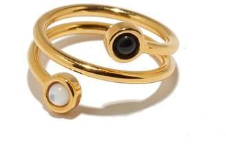 Lizzie Fortunato Spiral Ring in Black + White