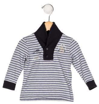 Ikks Boys' Collared Striped Shirt