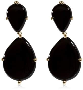 Rosantica Tempo Onyx Drop Clip-On Earrings