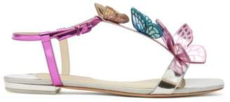 Sophia Webster Riva Butterfly Applique Leather Sandals - Womens - Multi