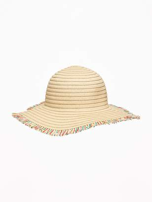 Old Navy Fringed Straw Sun Hat for Girls