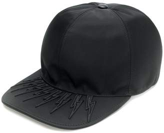 Neil Barrett embroidered lightning bolt cap