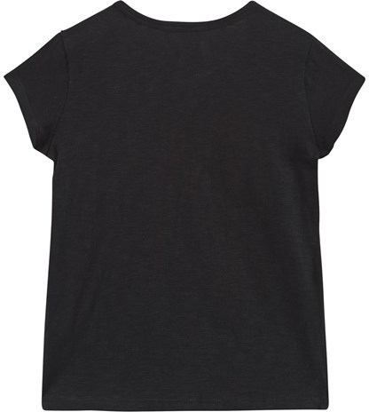 Ikks Black Heart Embroidered and Applique Tee