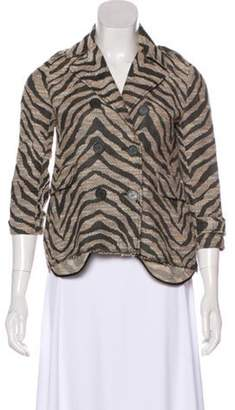 Gryphon Abstract Button-Up Jacket Beige Abstract Button-Up Jacket