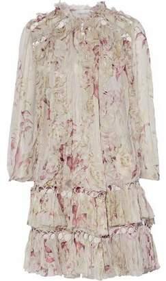 Zimmermann Winsome Sphere Ruffled Floral-Print Silk-Georgette Mini Dress