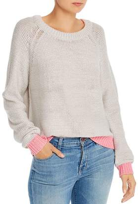 Aqua Color-Block-Trim Sweater - 100% Exclusive