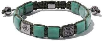 Black Diamond Shamballa Jewels 18kt white gold, emerald & bracelet