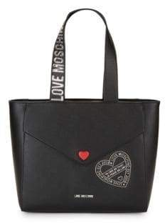 Love Moschino Logo Faux Leather Shoulder Bag
