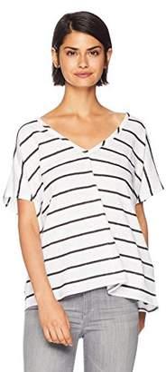 Chaser Women's Linen Jersey Oversized Double V Dolman