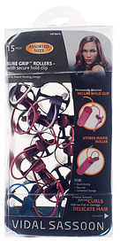 Vidal Sassoon Smooth Finish Sure Grip Rollers With Clip