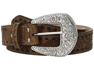 M&F Western Embossed with Tonal Laced Edges Belt