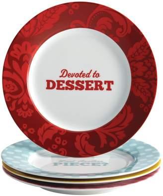 Cake Boss Patterns & Quotes Dessert Plates (Set of 4)
