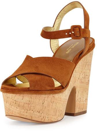 Michael Kors Hilary Suede Platform Sandal