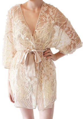Rya Collection Kiss Floral Tulle Coverup Robe