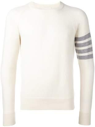 Thom Browne stripe sleeve detail jumper