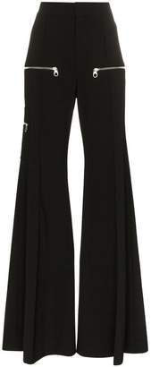 Chloé zip detail flared trousers