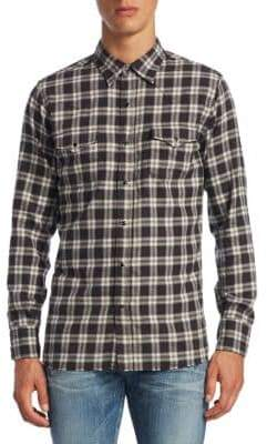 Saint Laurent Western Denim Cotton Button-Down Shirt