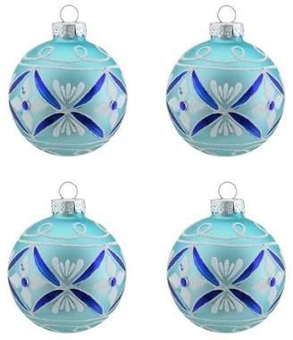 Northlight Floral Design Glass Ball Christmas Ornament