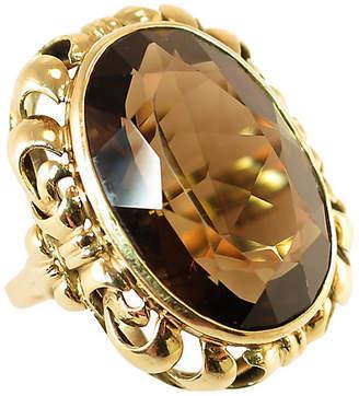 One Kings Lane Vintage 14k Gold & Cognac Topaz Ring