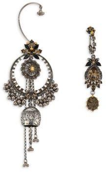 Alexander McQueenAlexander McQueen Jeweled Duo Earring Set