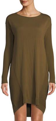 Lafayette 148 New York Ribbed-Back Wool Sweater Dress
