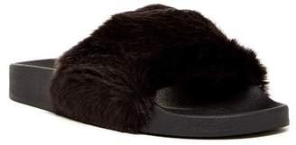 Jeffrey Campbell Follow Me Faux Fur Slide Sandal $50 thestylecure.com