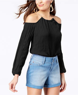 Thalia Sodi Cold-Shoulder Chain-Detail Top, Created for Macy's