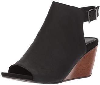 Kenneth Cole Reaction Women's Cake Jar Leather Peep Toe Wedge Sandal and Adjustable Backstrap
