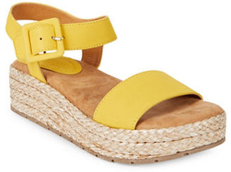 Kenneth Cole Reaction Calmwater Espadrille Platform Wedge Sandals $79 thestylecure.com