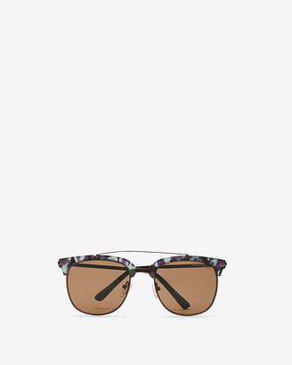 Express Camo Rim Browbar Sunglasses