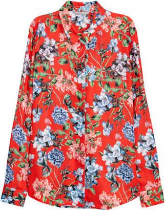 H&M Long-sleeved Blouse - Orange