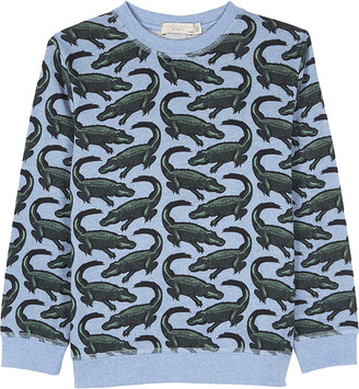 Stella Mccartney Crocodile cotton jumper 4-14 years $71 thestylecure.com