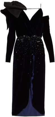 JOHANNA ORTIZ Carmelilla embellished velvet dress
