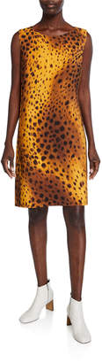 Lafayette 148 New York Bibiana Reversible Trailblazer Leopard-Print Sleeveless Dress