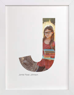 J - Within Letters of You Children's Custom Photo Art Print