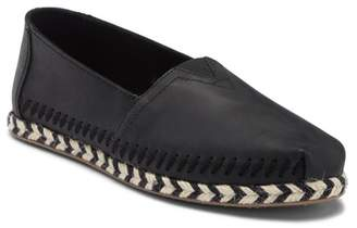 Toms Alpargata Leather Espadrille Slip-On Flat