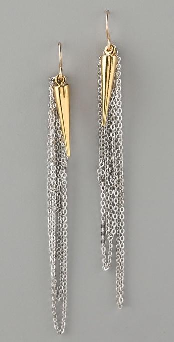 Gemma Redux Plumb Bob and Chain Earrings