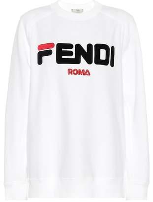 Fendi Embroidered cotton jersey sweatshirt