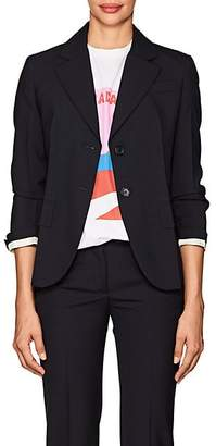 Prada Women's Wool Two-Button Blazer & Leather Belt - Navy