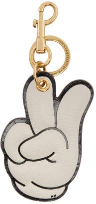 Anya Hindmarch Off-White Victory Hand Keychain