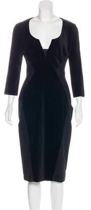 Antonio Berardi Velvet Long Sleeve Dress