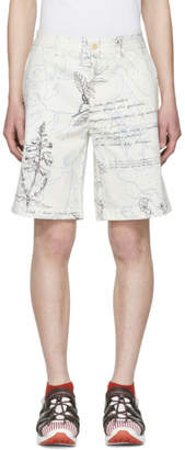 Alexander McQueen White Denim Explorer Shorts