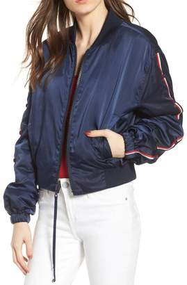 KENDALL + KYLIE Striped Bomber Jacket