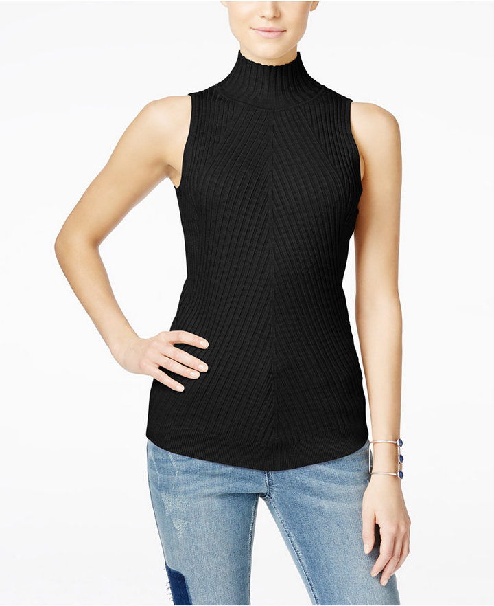 INC International Concepts Ribbed Mock-Neck Sweater, Only at Macy's