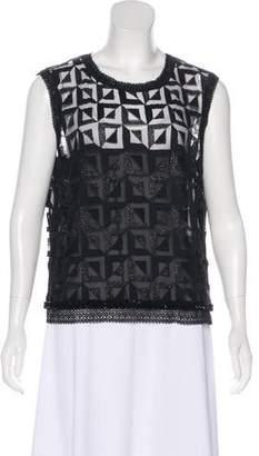 Chanel Embellished Sleeveless Top