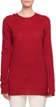 The Row Nolita Crewneck Long-Sleeve Cashmere-Silk Sweater
